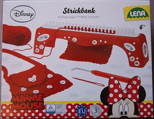 ans neuf livraison gratuite au Royaume-Uni Disney Minnie Mouse Knitting Board Set ÂGe 6
