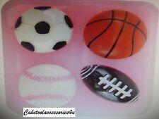 Football Baseball Basketball American Football Cake Topper Chocolate Icing