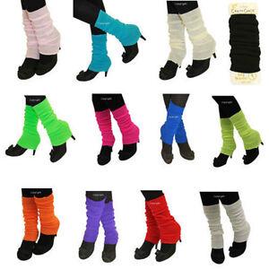 New-80-039-s-Womens-Girls-Plain-Leg-Warmers-Winter-Accessory-Fancy-Dress-Accessory
