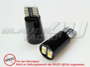 2x 2 Smd Led Samsung & W5w Dissipateur Thermique Alu Noir Sans Feux De Position à Vendre