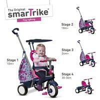 Smart Trike Groove Kids Trike, 4 In 1 Childrens Ride On Tricycle - Pink