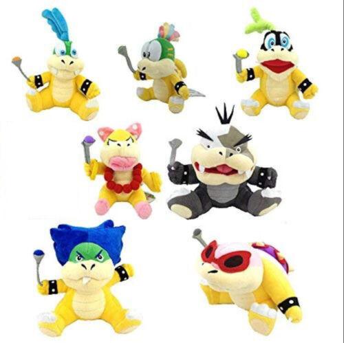 Super Mario Koopalings jouets en peluche Wendy Larry Iggy Ludwig Roy Morton Peluche Toys