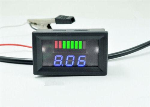 Caliente Rojo Azul voltímetro Probador de nivel de carga para 12//24//36//48V Batería de plomo