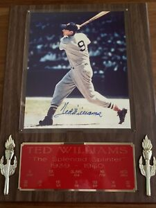 Ted-Williams-Signed-Auto-8x10-Photo-Stat-Plaque-JSA-Certified-Free-Shipping