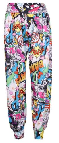 Womens Ali Baba Harem Trousers Pants Leggings Ladies Baggy Aladdin Boho Hippy