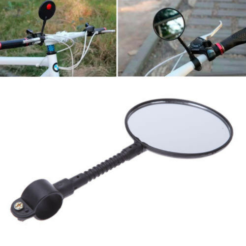 Quality Bicycle Bike Handlebar Flexible Rear Back Glass View Rearview Mirror