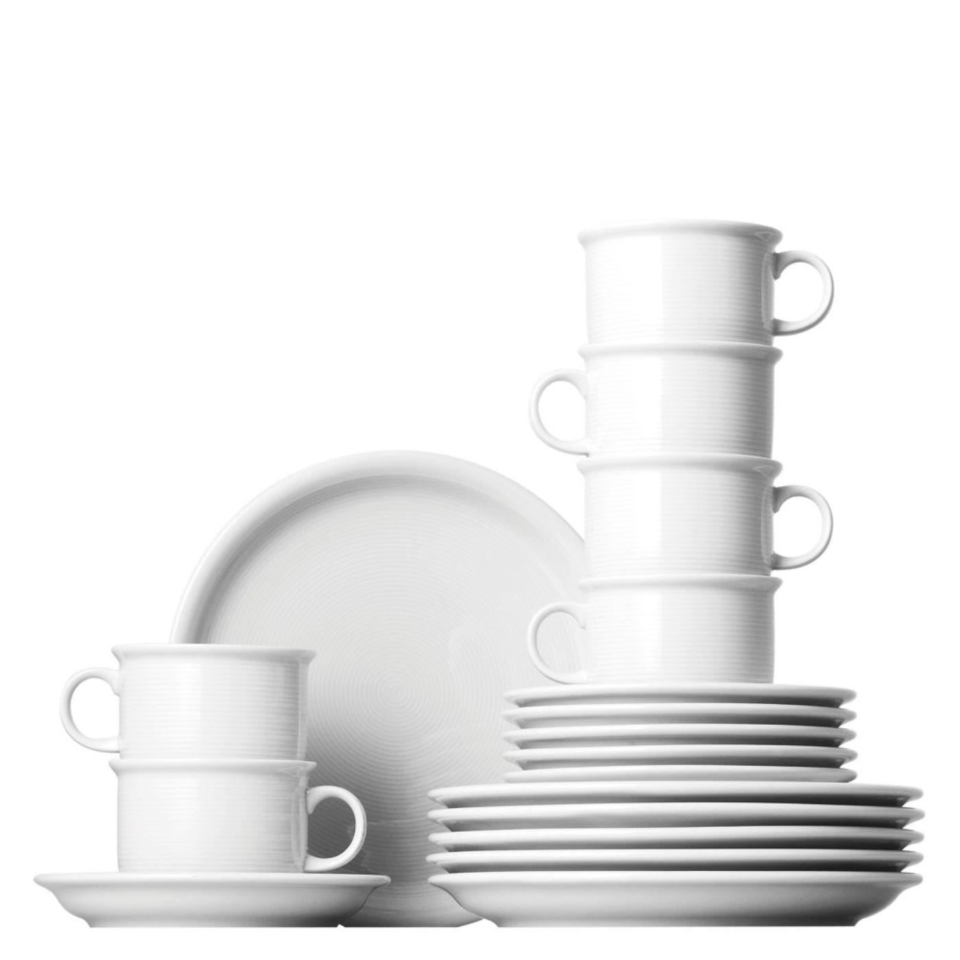 Thomas trend Blanc Cappuccino set 18 pièces service à café vaisselle Cappuccino tasse