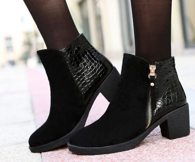 Stiefel winter hoch hoch hoch komfortabel damenschuhe absatz 5 cm schwarz 8715 a12726