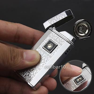 W/ Touch Induction Switch Windproof Jet Flame Cigar Cigarette Butane Gas Lighter