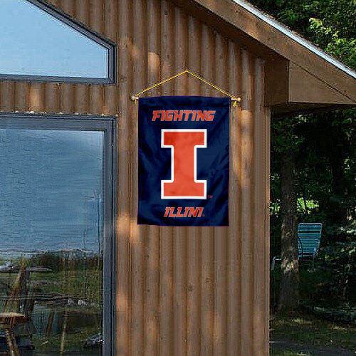 Illinois Fighting Illini Two Sided Blue House Flag