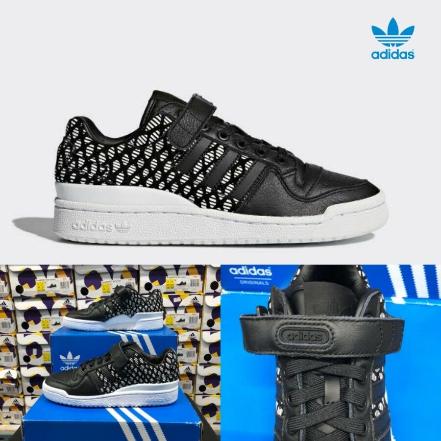 Adidas Originals Forum Low Shoes Sneakers BY9347 Black Sneakers SZ 4-12 �