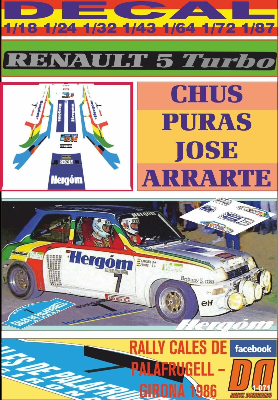 DECAL RENAULT 5 TURBO CHUS PURAS R.CALES DE PALAFRUGELL – GIRONA 1986 (09)