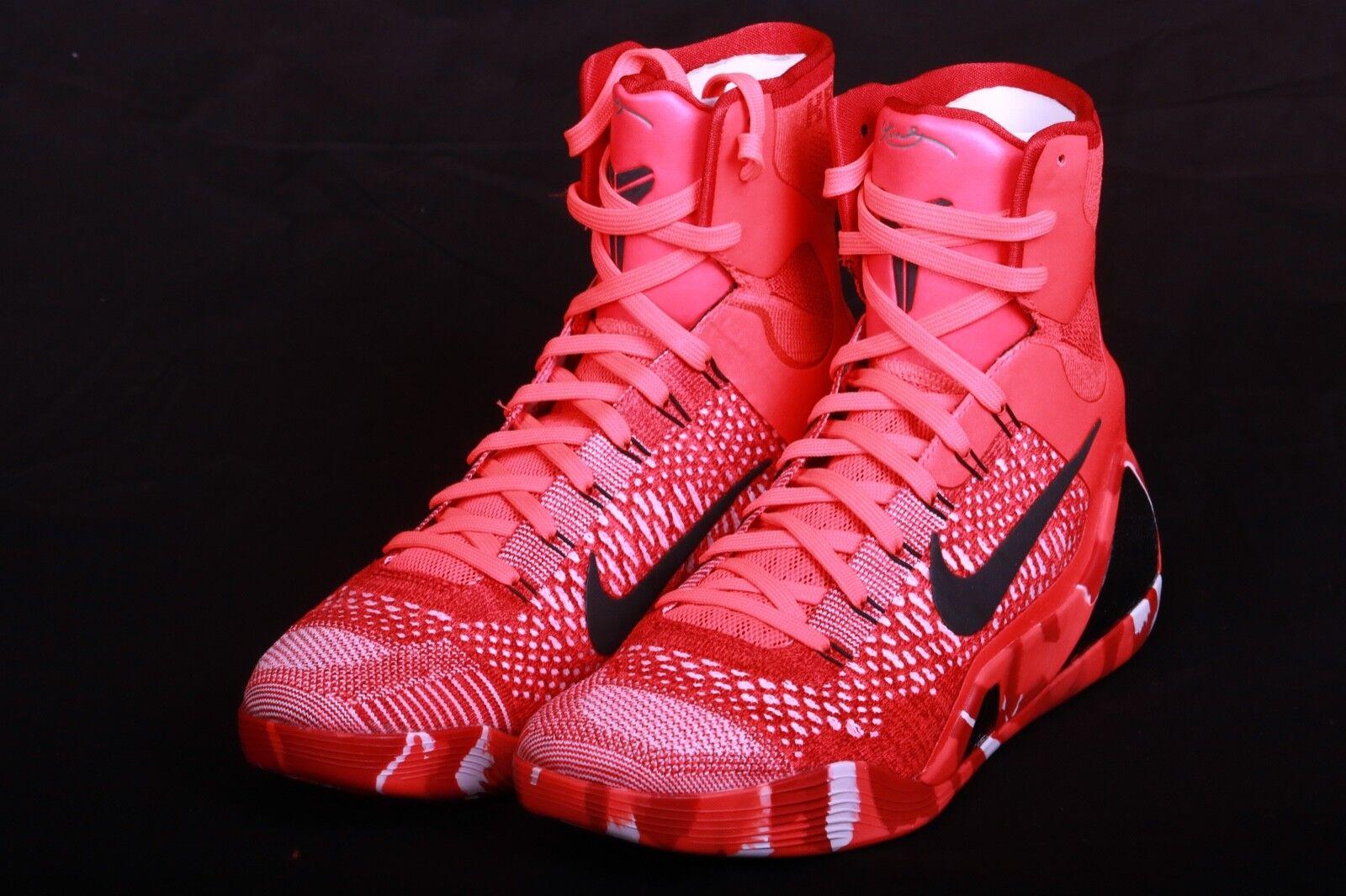 Nike Men's 2014 Kobe IX 9 Elite Christmas Bright Crimson shoes 630847 600 Sz 8.5