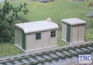 238 Ratio N Gauge 2 Concrete Huts