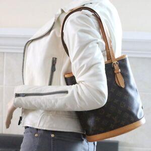 3b764e9b6b38 Louis Vuitton Bucket Petit Pm Shoulder Monogram Brown Damier Canvas ...