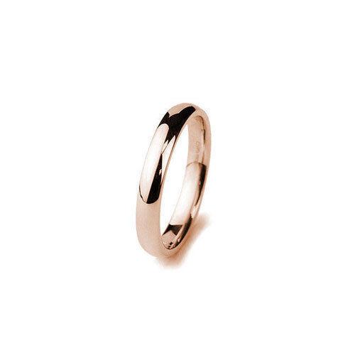 9ct pink gold Hallmarked Traditional Court Wedding Ring- 3mm-4mm Medium Weight