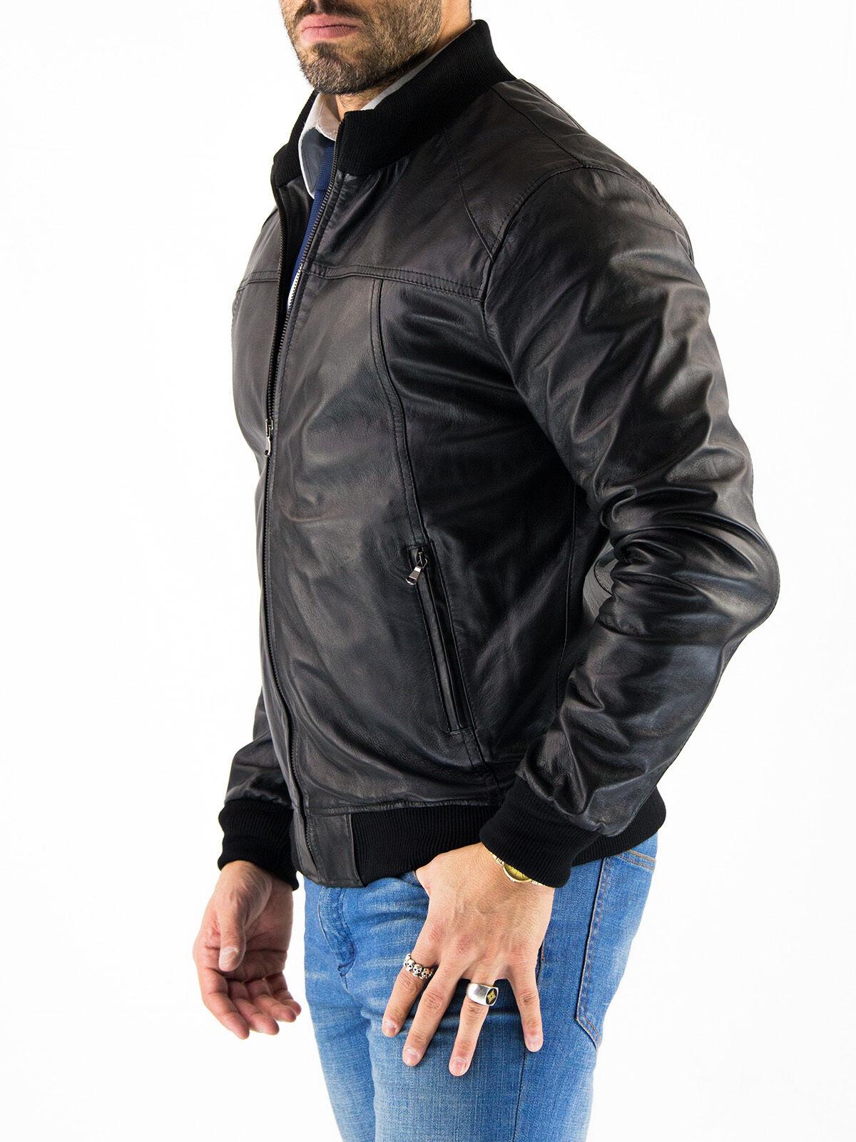 DE Herren Lederjacke Biker Manteau Veste en Cuir pour Homme Homme Veste En cuir T9HTg7