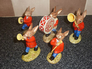 VINTAGE-ROYAL-DOULTON-BUNNYKINS-OOMPAH-BAND-DB23-27-BOXED-EXCELLENT