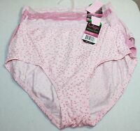 Set/3 Olga Without A Stitch Lace Brief Silky Smooth Comfort Pink Dots