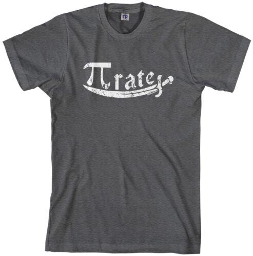 Threadrock Men/'s Pi Symbol Pirate T-shirt Math Pi Day 3.14
