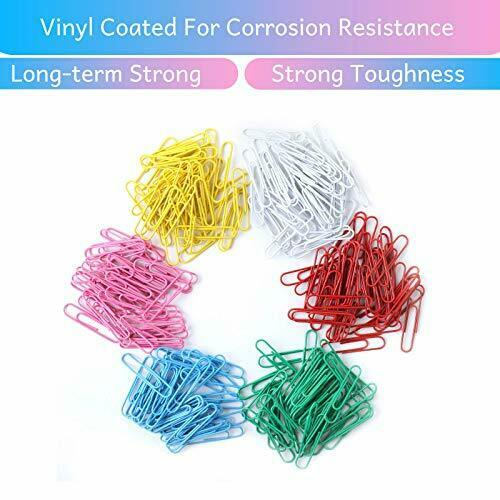 Colored for 2 Inch Pen- Paper Clips Mr 240 Pack Large Colored Paper Clips