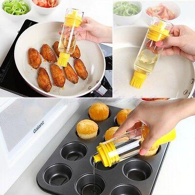 Kitchen Tool Silicone Honey Oil Brush Bottle Cooking Baking Pancake Basting BBQ