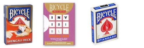 Svengali+Invisible+Standard Carte Bicycle - colore Blu Trio del Baro DELUXE