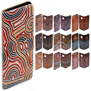 For-Apple-iPhone-Series-Case-Aboriginal-Art-Print-Flip-Wallet-Phone-Case-Cover