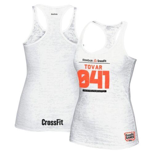 Reebok 2013 CrossFit Games Stacie Tovar 041 Women/'s White Burnout Tank Top