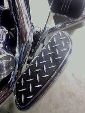 CUSTOM HARLEY DIAMOND PLATE, POWDERCOAT DRIVERS FLOORBOARD COVERS, STREET GLIDE