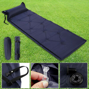 SELF INFLATING CAMPING ROLL MAT PAD INFLATABLE PILLOW BED