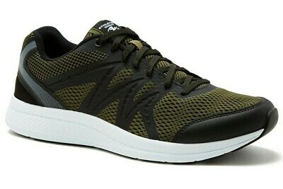 Mens Athletic Shoes OLIVE ARMY GREEN /& BLACK Breathable Mesh LT WEIGHT Size 11