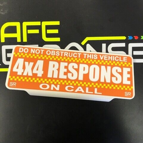 CHQ texto estándar de respuesta de 4X4 Univisor visera de sol en distintivo de llamada llamada de estacionamiento