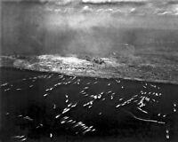 8x10 World War Ii Photo: 1st Wave Of Landing Craft On Iwo Jima