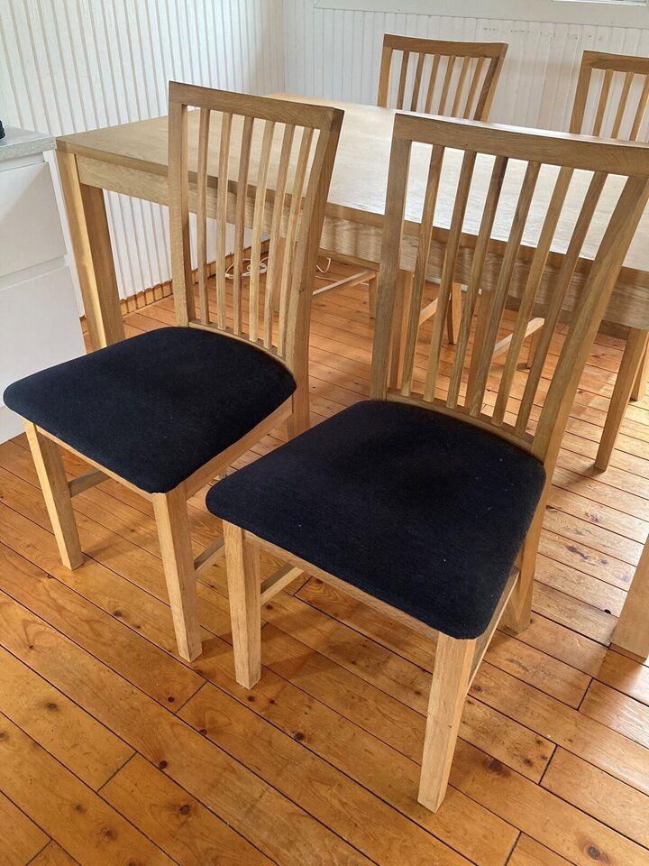 Spisebord m/stole, Massivt bøg , b: 90 l: 160