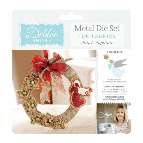 Crafters Companion Debbie Shore métal Die Ensembles pour tissus Deep Dish Mixed Media