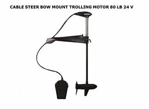 Bow Mount Cable Steer Trolling Motor 80 Lbs 24v Foot