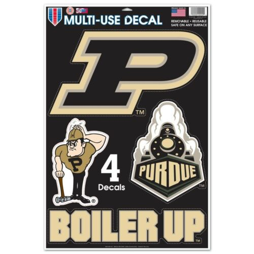 PURDUE BOILERMAKERS MACBOOK LAPTOP MULTI USE REMOVABLE REUSABLE DECALS NEW