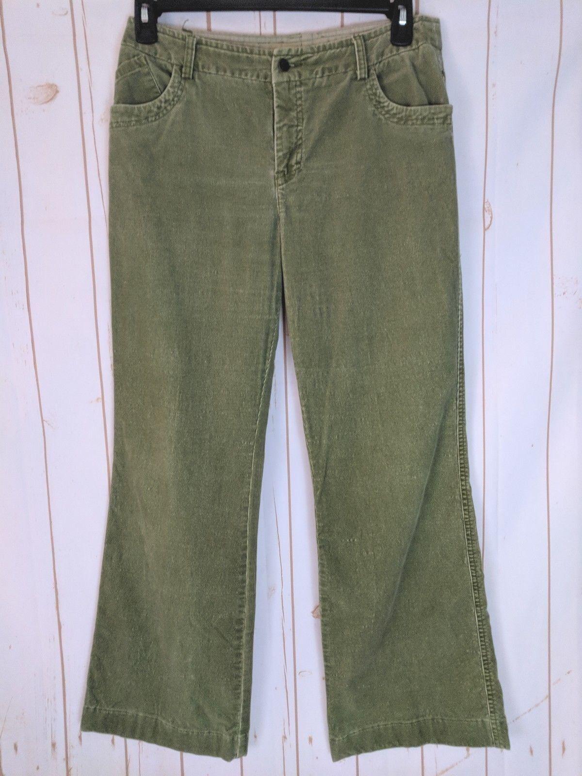 Telluride Clothing Co. Hose 12 Lt. Grün Cotton Spandex Stretch Corduroy