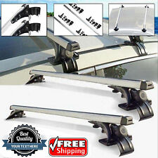 "2x 47""Fit Nissan Versa Car Top Luggage Cross Bar Roof Rack Carrier+3 Kind Clamp"