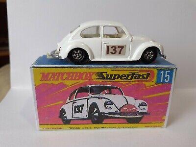 No:15 Matchbox Series Lesney Volkswagen White Reproduction Box
