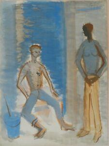 Andre-TELLIER-034-SEDUCTION-034-GOUACHE-vers-1950-60