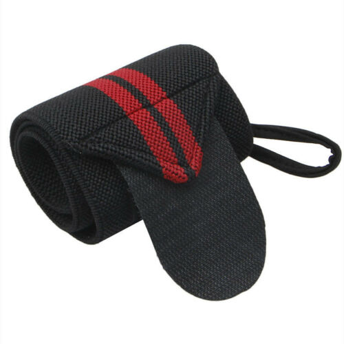 Power Weight Lifting Wrist Wraps Gym Thumb Loop Straps Hand Bar Support Gloves
