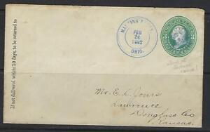 Ee. Uu. 1882 Martin Ferry Ohio Con Escaso Rueda de Fortuna Elegante Cancelado