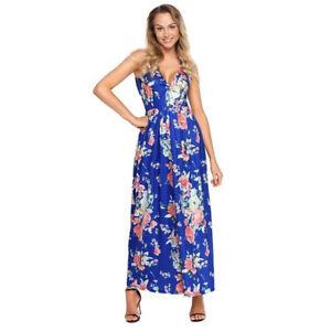e0ea7ccb73e62 Vestidos Largos de Moda Para Mujer Sin Manga Floreados Elegantes ...
