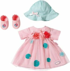 Baby-Annabell-Deluxe-Summer-Outfit-Set-For-43cm-Dolls-Zapf-Creation-Hat-Shoes