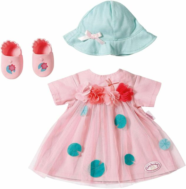 Baby Annabell Deluxe Summer Outfit Set For 43cm Dolls Zapf Creation Hat Shoes