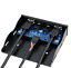 USB 3.0 2-Port 3.5 Inch Metal Front Panel USB Hub with 1 HD Audio Outpu