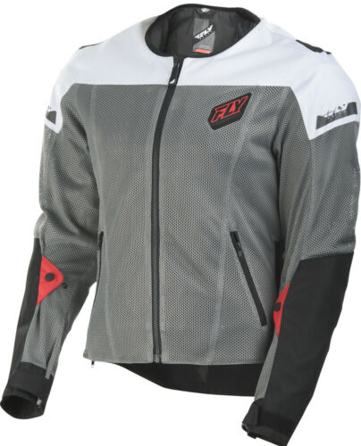 Fly Racing Flux Air Mesh Jacket Black//White