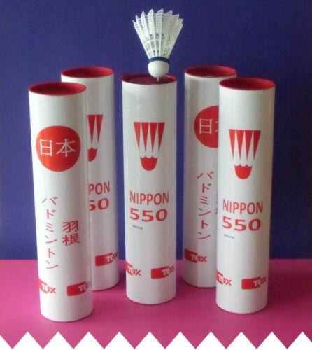 ◄► 45 Stück Badmintonbälle für die Halle ►Tox NIPPON-550 ►nur € 0,79 pro Shuttle
